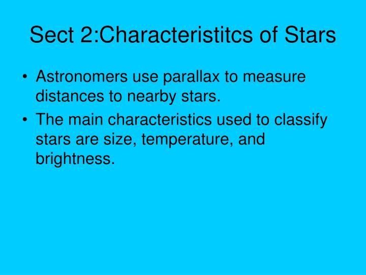 Sect 2:Characteristitcs of Stars