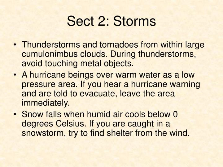 Sect 2: Storms