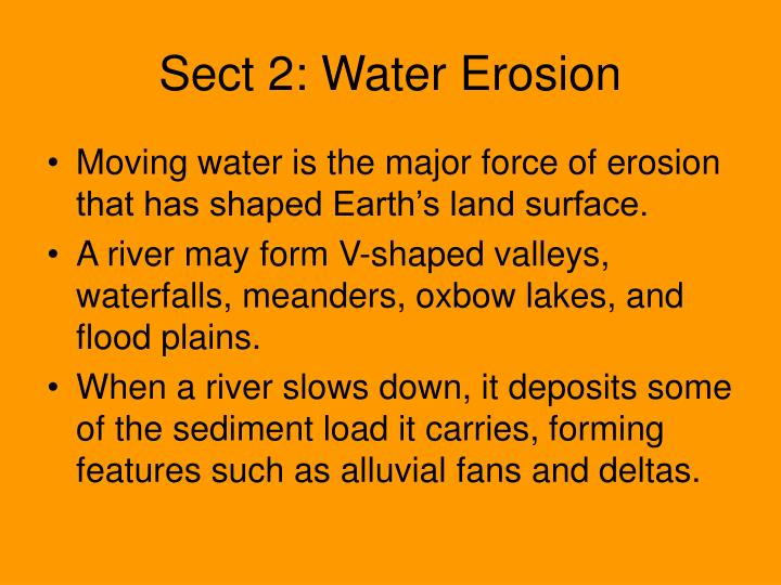 Sect 2: Water Erosion