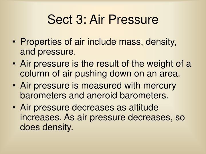Sect 3: Air Pressure