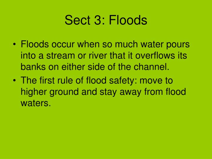 Sect 3: Floods
