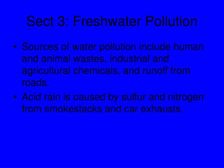 Sect 3: Freshwater Pollution