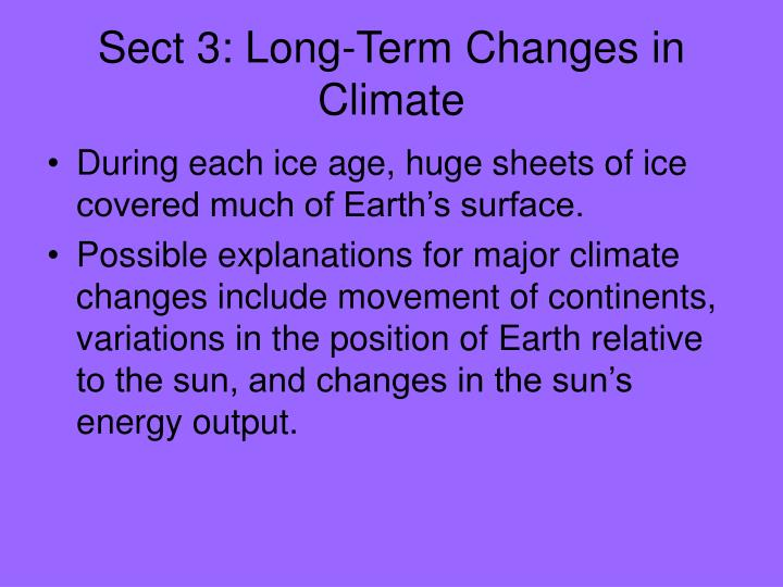 Sect 3: Long-Term Changes in Climate