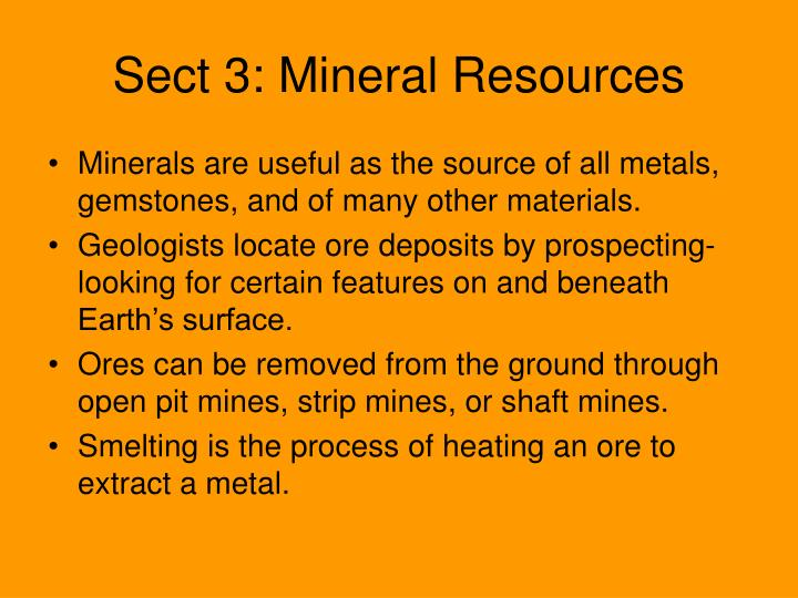 Sect 3: Mineral Resources