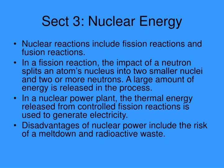 Sect 3: Nuclear Energy