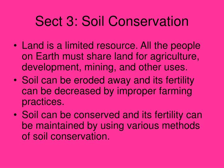 Sect 3: Soil Conservation