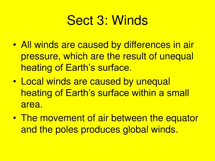 Sect 3: Winds