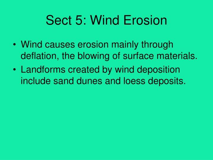 Sect 5: Wind Erosion