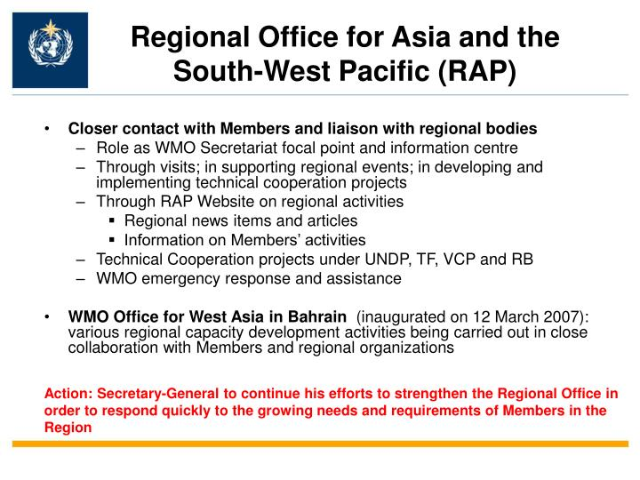 Regional Office for Asia and the South-