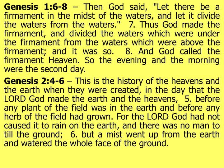 Genesis 1:6-8