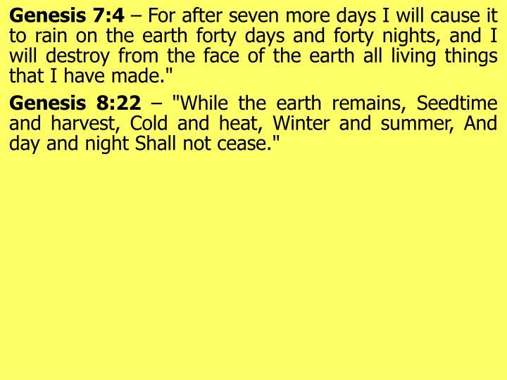 Genesis 7:4