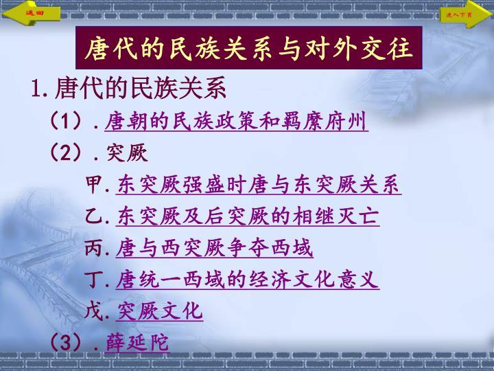 唐代的民族关系与对外交往