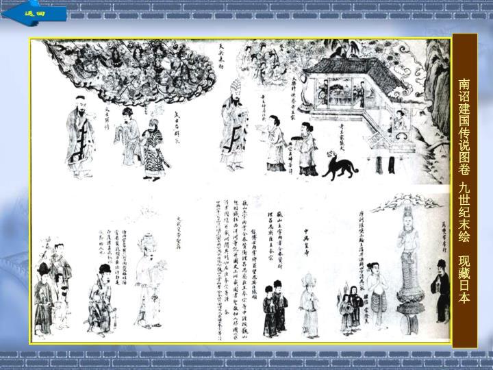 南诏建国传说图卷 九世纪末绘  现藏日本