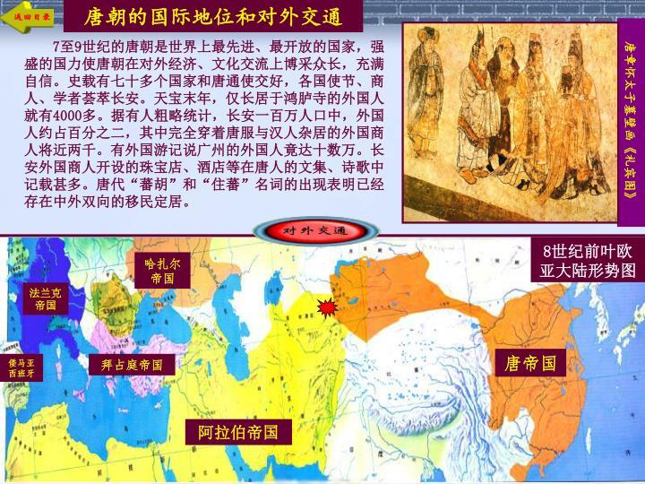 唐朝的国际地位和对外交通