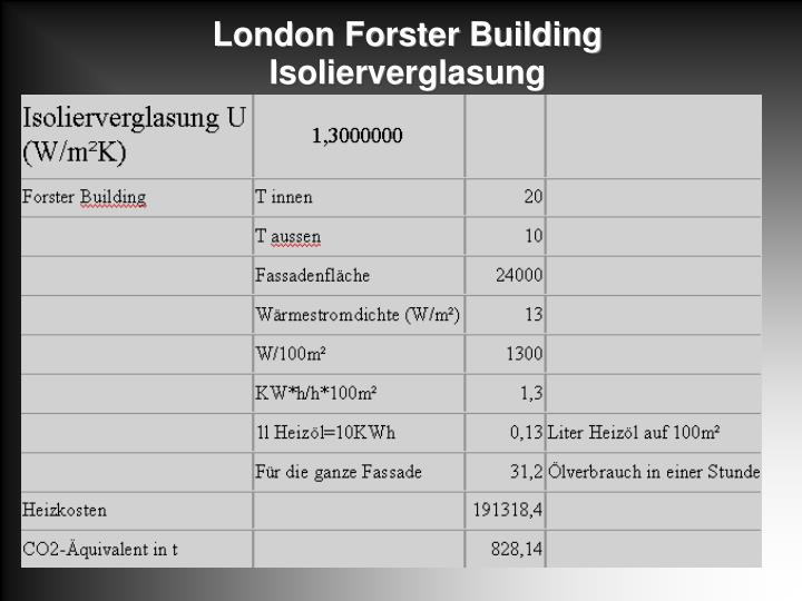 London Forster Building Isolierverglasung