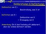 deklarationen definitionen