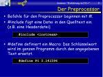 der preprocessor