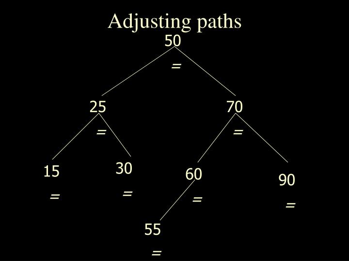 Adjusting paths