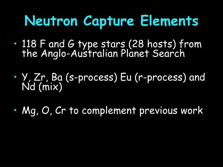 Neutron Capture Elements