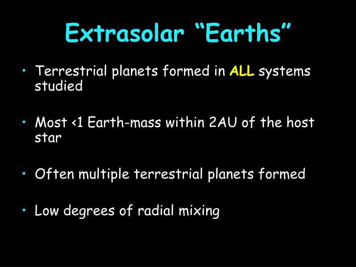 """Extrasolar """"Earths"""""""