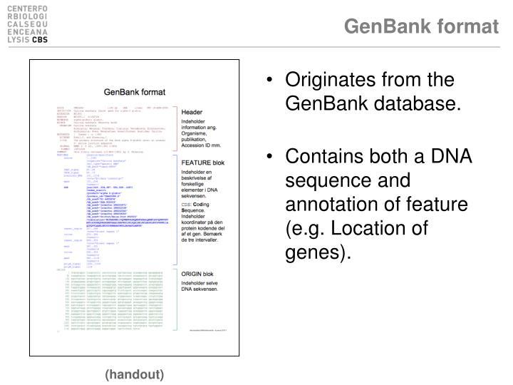 GenBank format