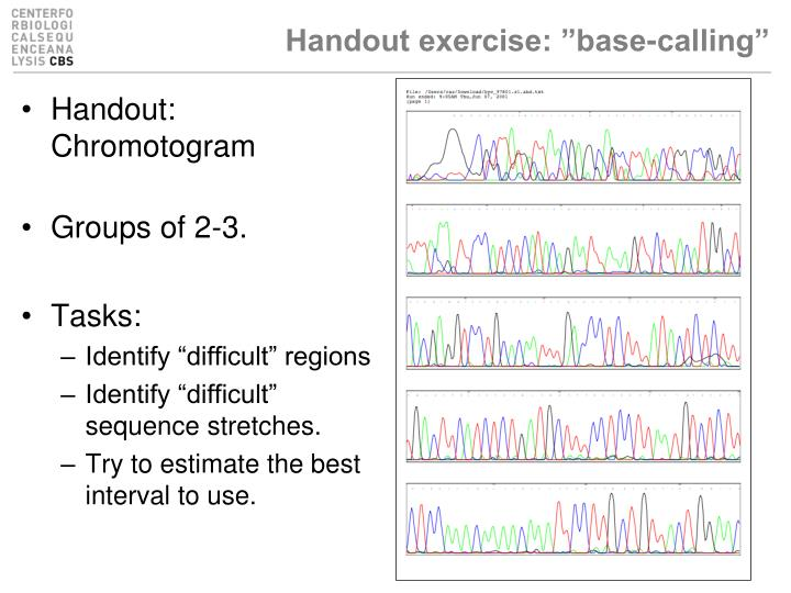 "Handout exercise: ""base-calling"""