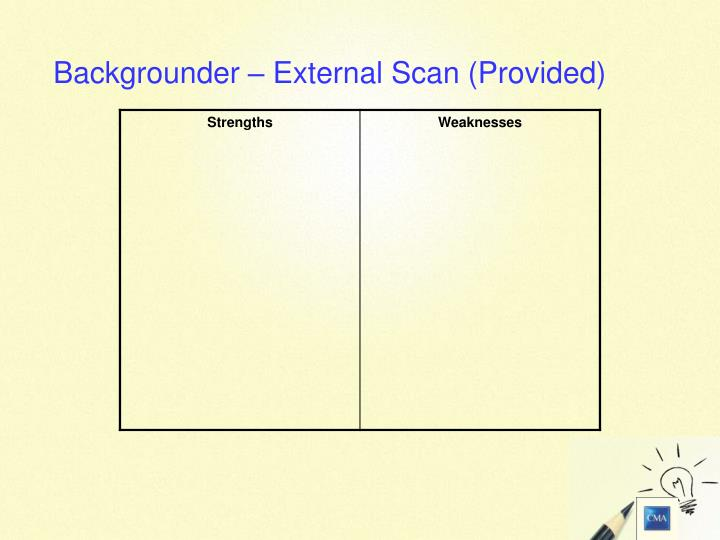 Backgrounder – External Scan (Provided)