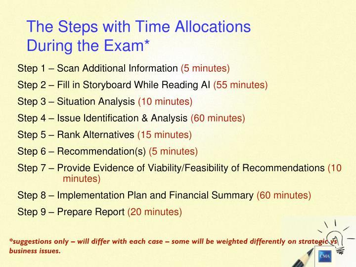 Step 1 – Scan Additional Information