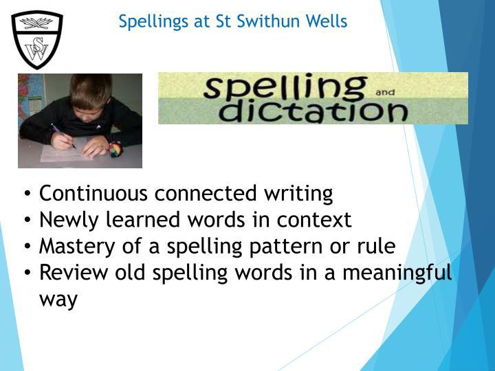 Spellings at St