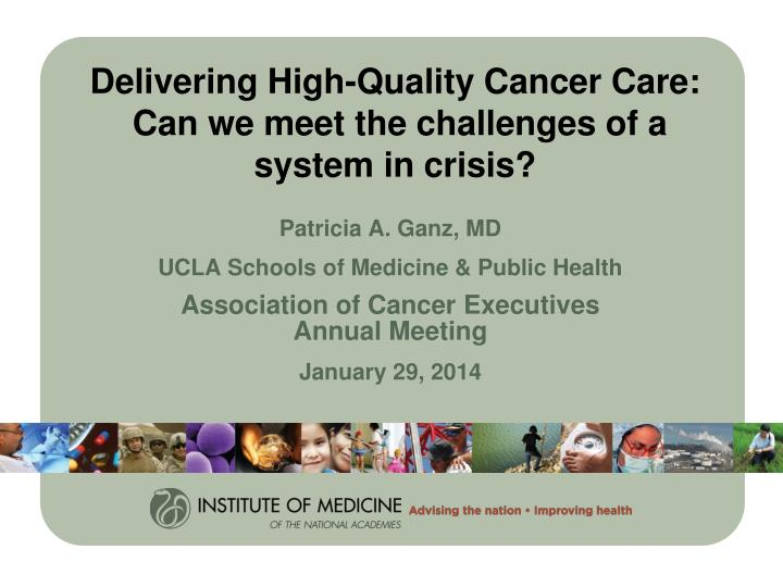 delivering high quality cancer care can we meet the challenges of a system in crisis