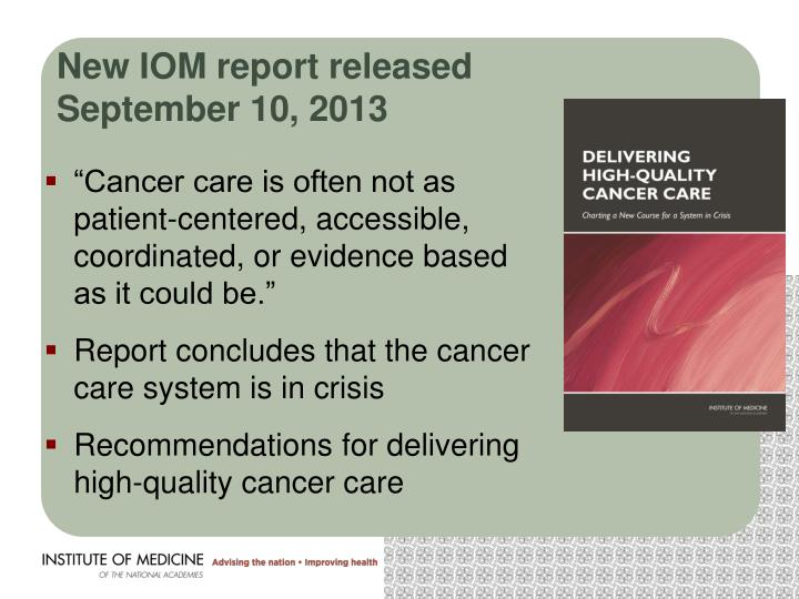New IOM report released