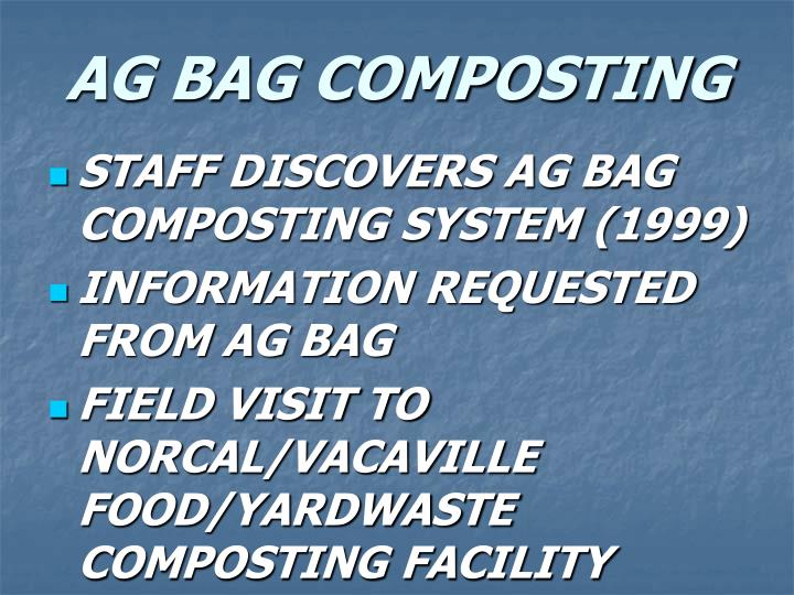 AG BAG COMPOSTING