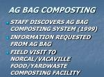 ag bag composting
