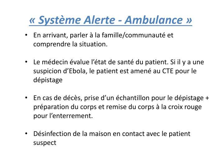 «Système Alerte - Ambulance»