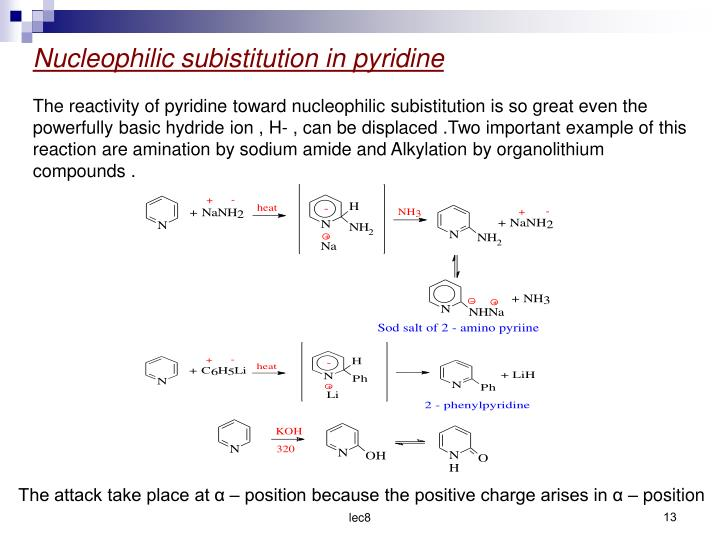 Nucleophilic subistitution in pyridine