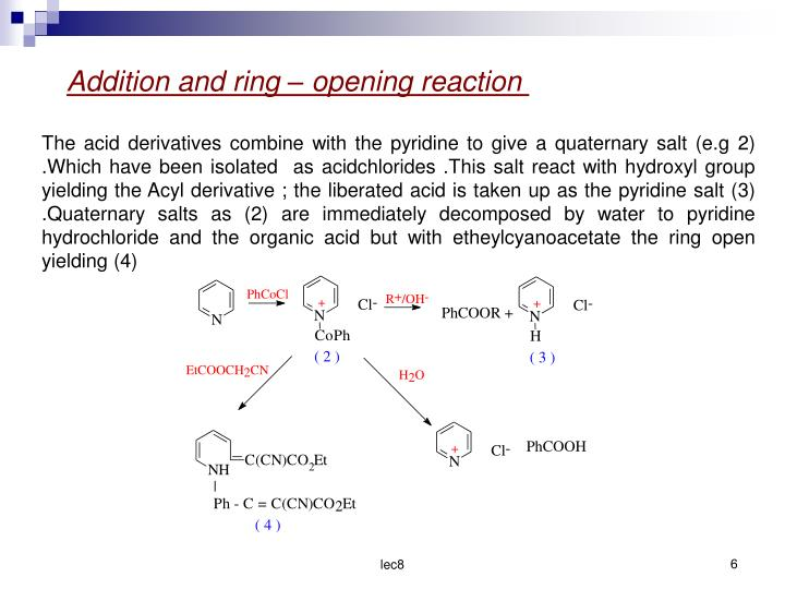 Addition and ring  opening reaction