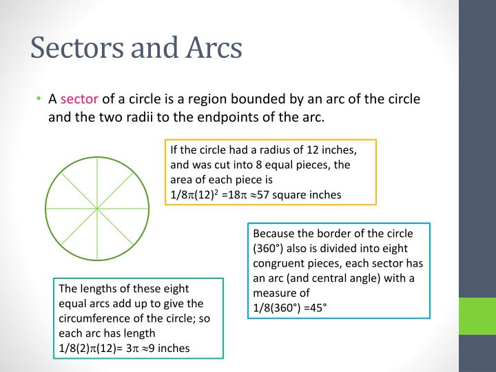 Sectors and Arcs