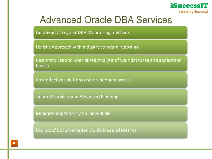 Advanced Oracle DBA Services