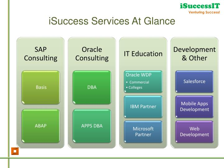 iSuccess Services At Glance
