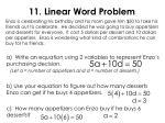 11 linear word problem