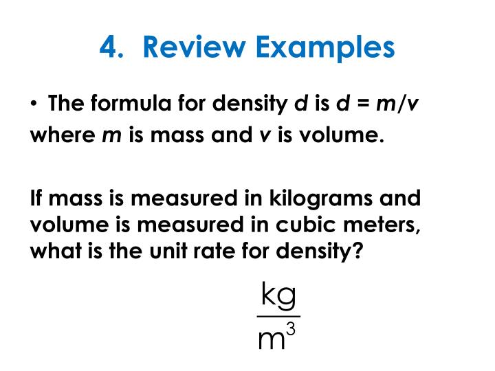 4.  Review Examples