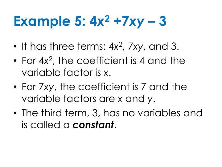 Example 5: 4