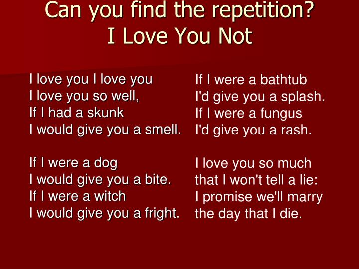 Can you find the repetition?