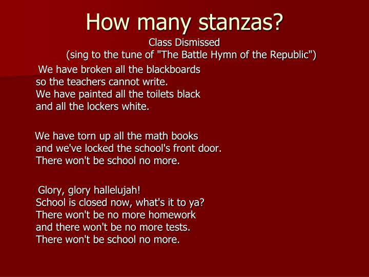 How many stanzas?