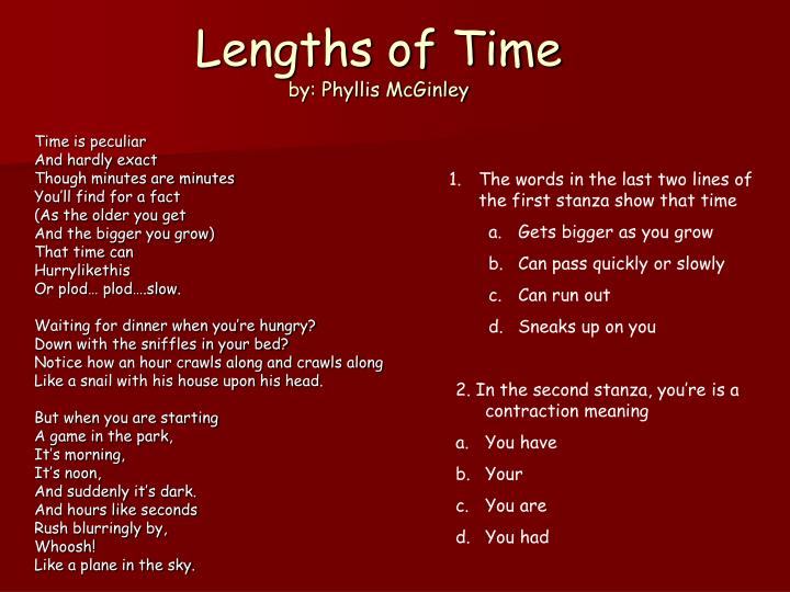 Lengths of Time