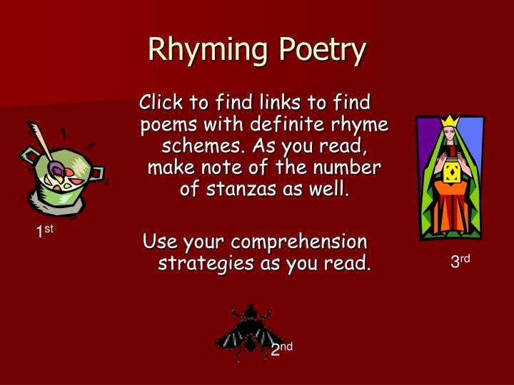 Rhyming Poetry