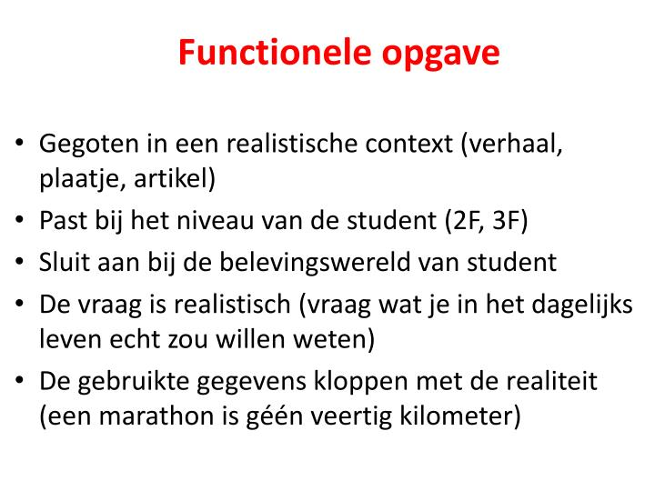 Functionele opgave