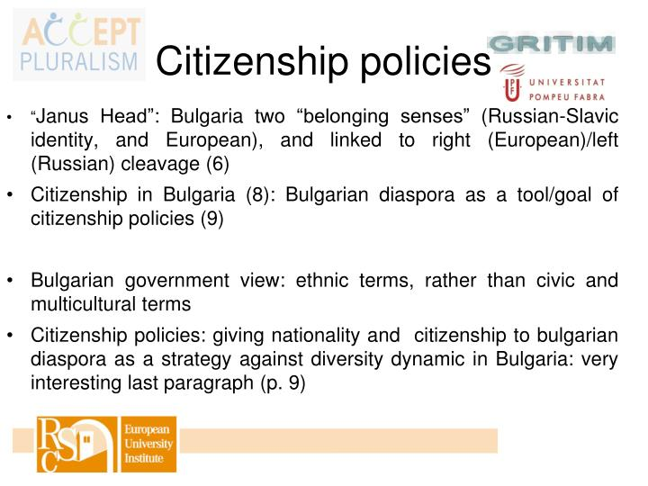 Citizenship policies