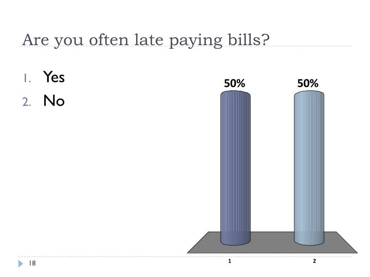 Are you often late paying bills?