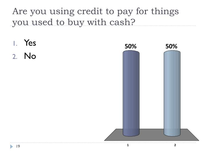 Are you using credit to pay for things you used to buy with cash?